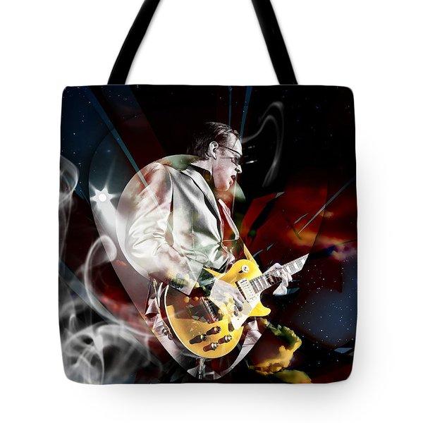 Joe Bonamassa Blue Guitarist Tote Bag by Marvin Blaine
