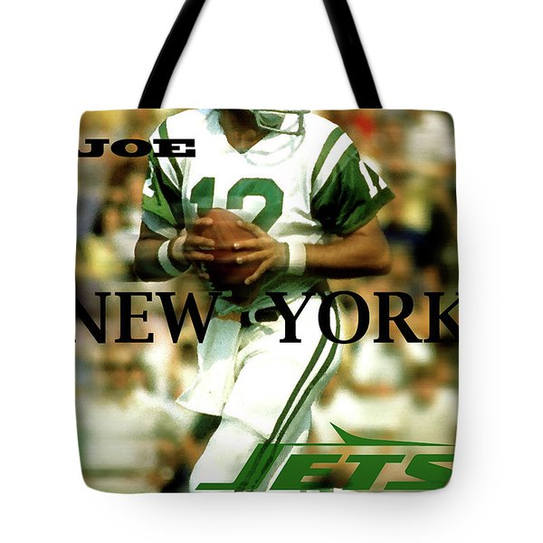 Joe Namath, Broadway Joe, New York Jets Tote Bag