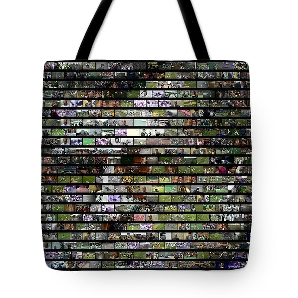 Joe Paterno Mosaic Tote Bag by Paul Van Scott