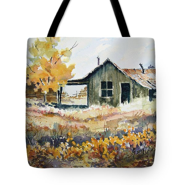 Tote Bag featuring the painting Joe's Place II by Sam Sidders