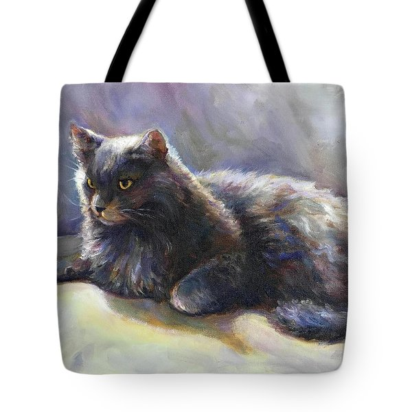 Tote Bag featuring the painting Joey by Bonnie Goedecke