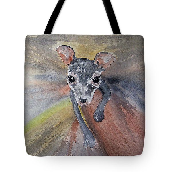 Joey In Mums Pouch Tote Bag