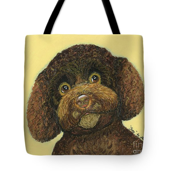 Tote Bag featuring the pastel Joey Poodle Mix by Ania M Milo