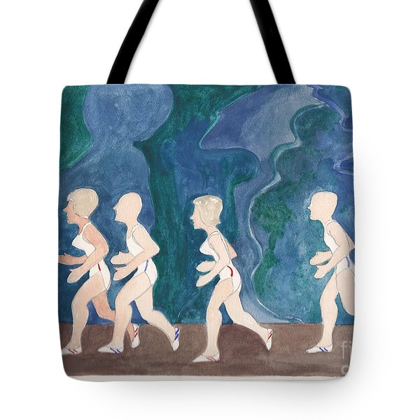 Joggers Tote Bag by Fred Jinkins