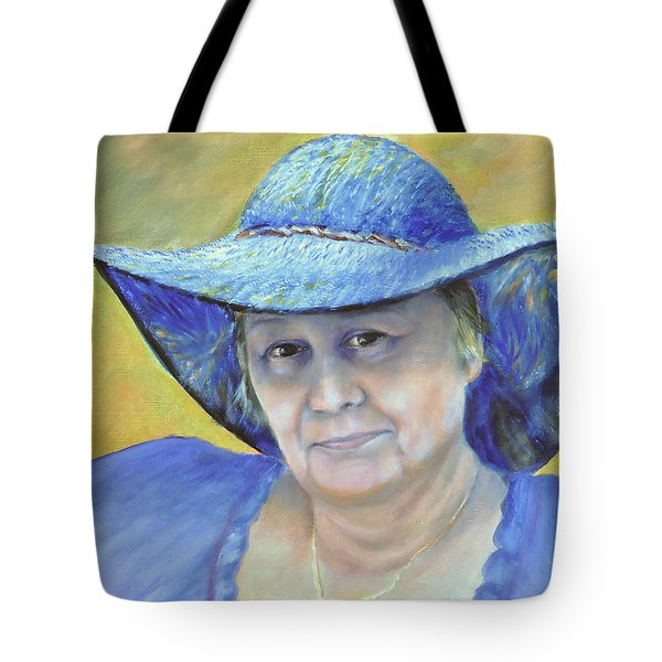 Tote Bag featuring the painting Johanna by Luczay
