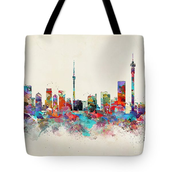Johannesburg South Africa Skyline Tote Bag