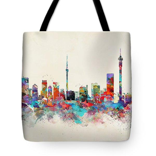 Johannesburg South Africa Skyline Tote Bag