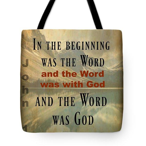 John 1 1 Tote Bag