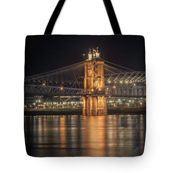 John A. Roebling Suspension Bridge Tote Bag