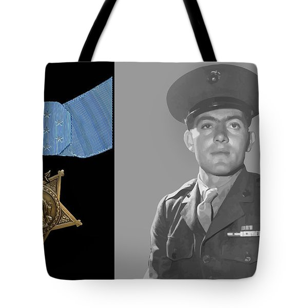 John Basilone And The Medal Of Honor Tote Bag
