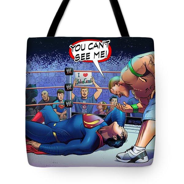 John Cena Vs Superman Tote Bag