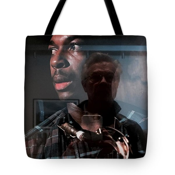 John Coltrane And Me Tote Bag