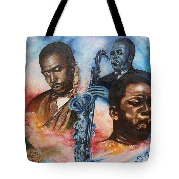 Blaa Kattproduksjoner     John Coltrane - Jazzed  Tote Bag