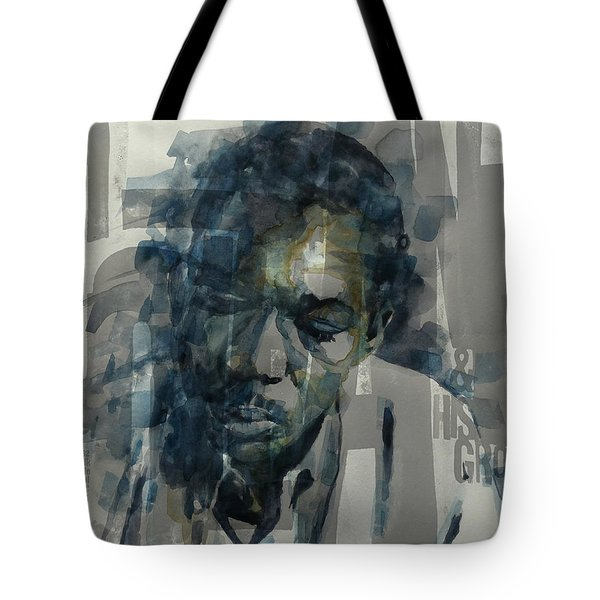 Tote Bag featuring the mixed media John Coltrane  by Paul Lovering