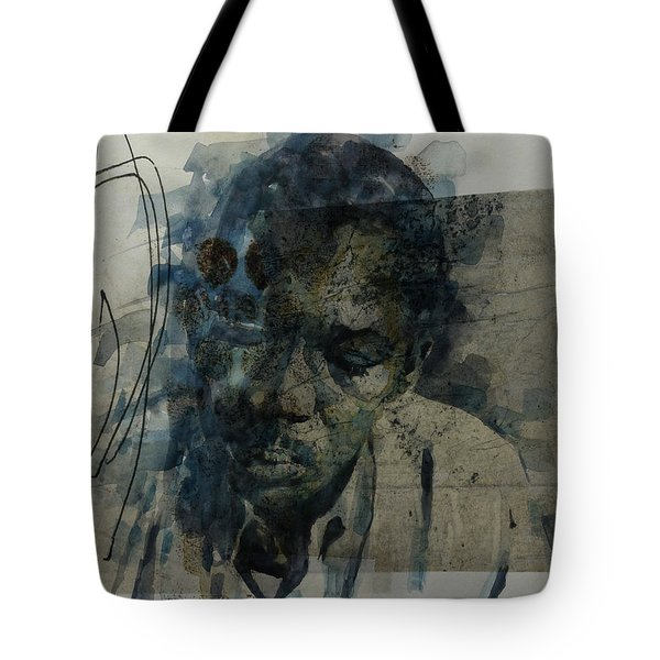 Tote Bag featuring the mixed media John Coltrane / Retro by Paul Lovering