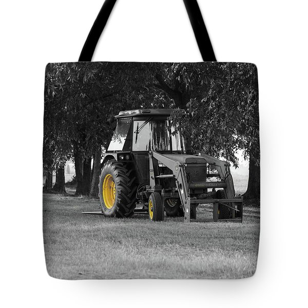 Tote Bag featuring the photograph John Deere 620 In Selective Color by Doug Camara