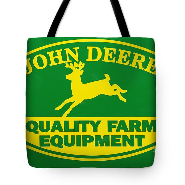 John Deere Farm Equipment Sign Tote Bag by Randy Steele