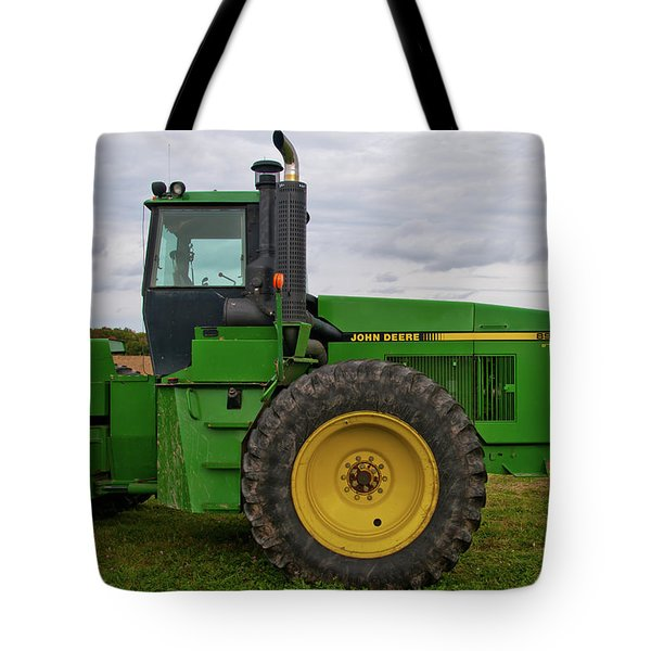 Tote Bag featuring the photograph John Deere Green 3159 by Guy Whiteley