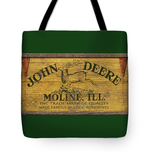 John Deere Sign Tote Bag by WB Johnston