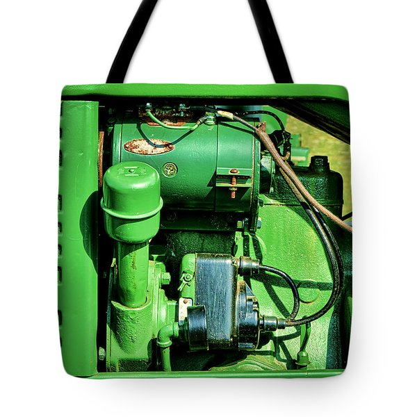 John Deere Tractor Engine Detail Tote Bag