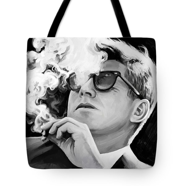 Tote Bag featuring the painting John F. Kennedy Artwork 1 by Sheraz A
