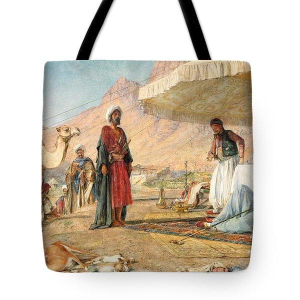 Tote Bag featuring the photograph John Frederick Lewis Mount Sinai 1842 by Munir Alawi