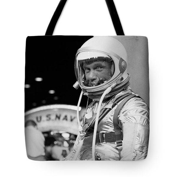 John Glenn Wearing A Space Suit Tote Bag by War Is Hell Store