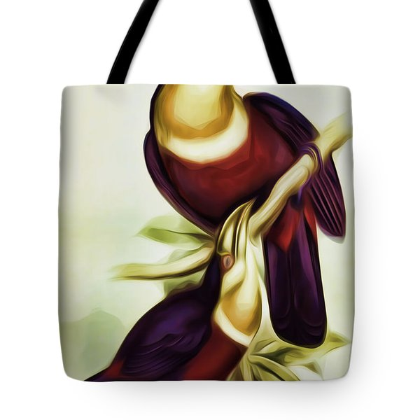 John Gould And Edward Lear Family Of Toucans Interpreted Tote Bag
