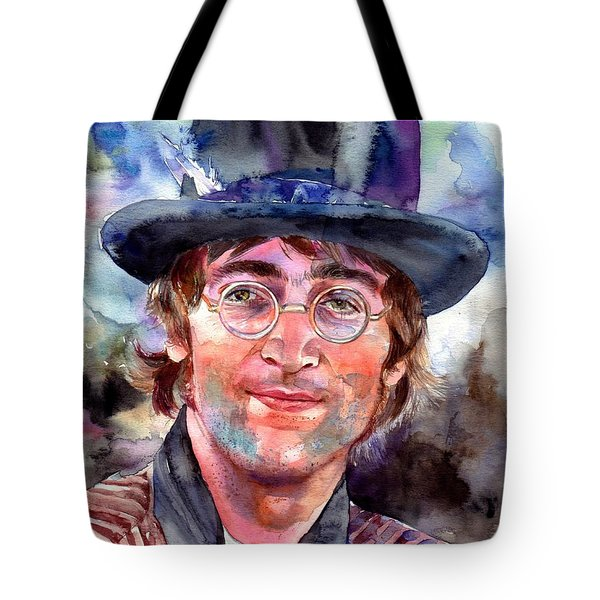 John Lennon Portrait Tote Bag