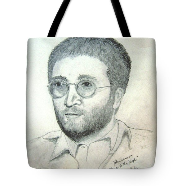 John Lennon Power To The People Tote Bag