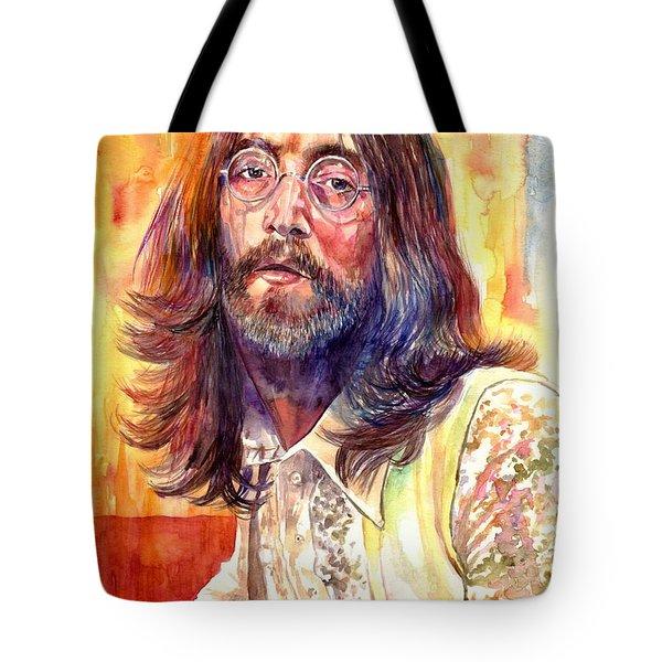 John Lennon Watercolor Tote Bag