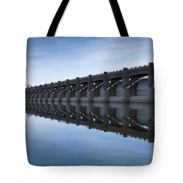 John Martin Dam And Reservoir Tote Bag by Ernie Echols