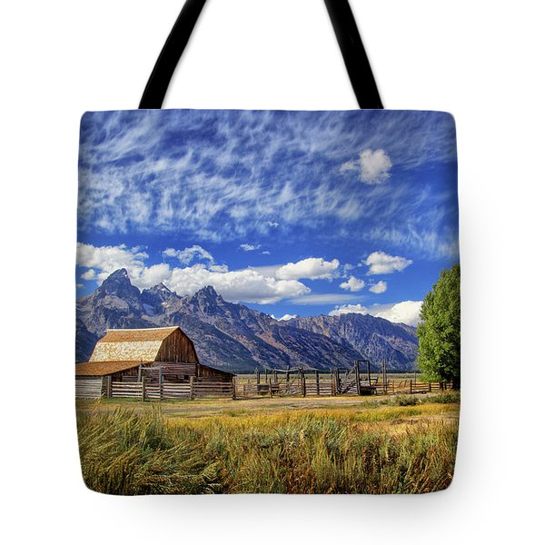 John Moulton Barn In The Tetons Tote Bag