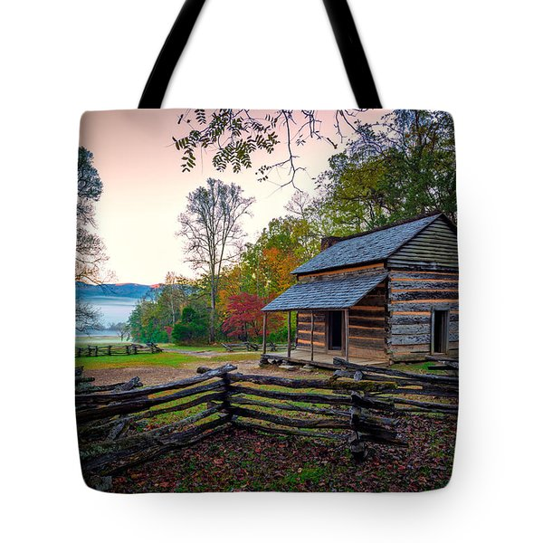 John Oliver Place In Cades Cove Tote Bag by Rick Berk