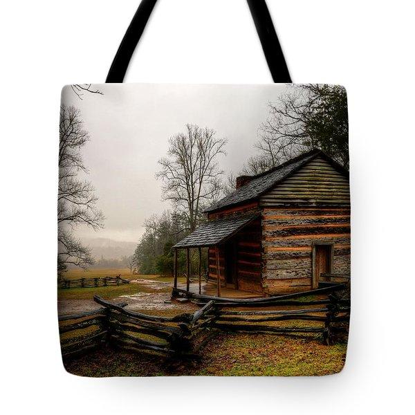 John Oliver's Cabin In Cades Cove Tote Bag