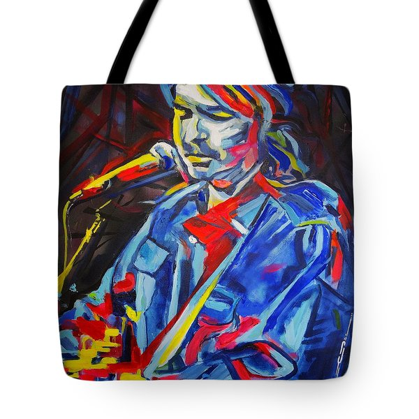 Tote Bag featuring the painting John Prine #3 by Eric Dee
