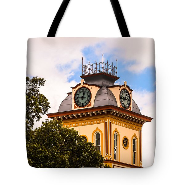 John W. Hargis Hall Clock Tower Tote Bag