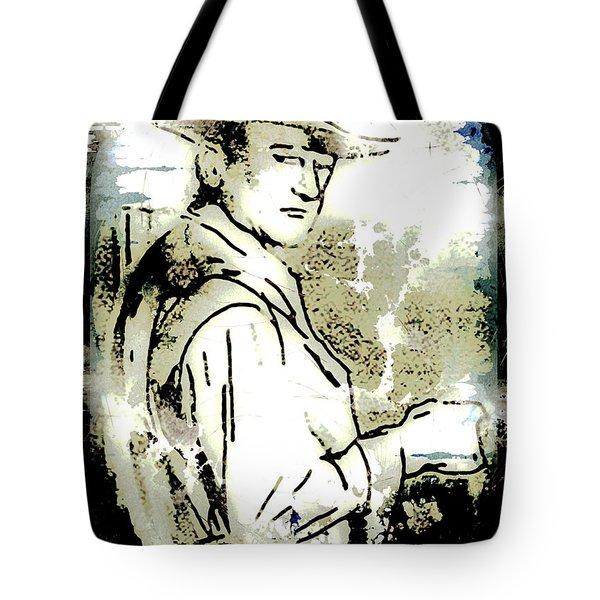 John Wayne Tote Bag by Arline Wagner