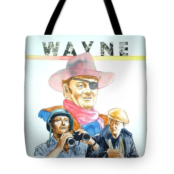 John Wayne Tote Bag by Bryan Bustard