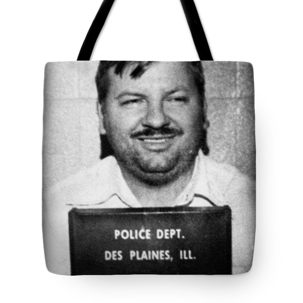 John Wayne Gacy Mug Shot 1980 Black And White Tote Bag