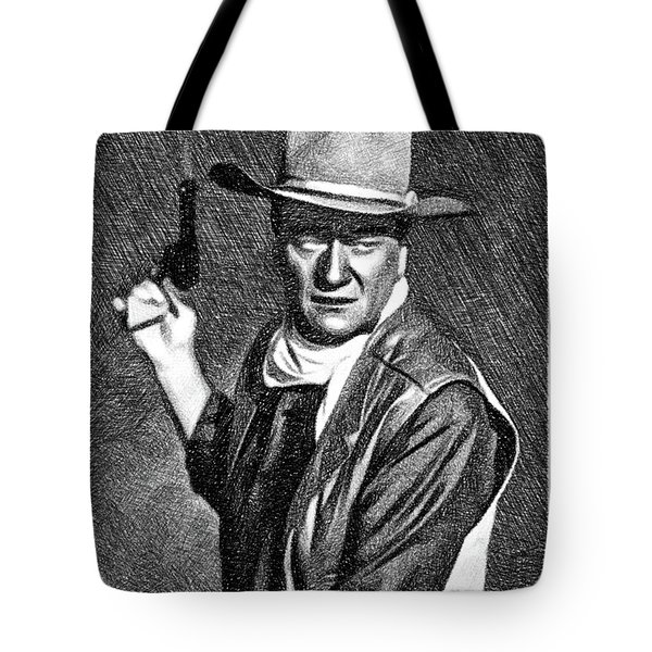 John Wayne, Vintage Actor By Js Tote Bag