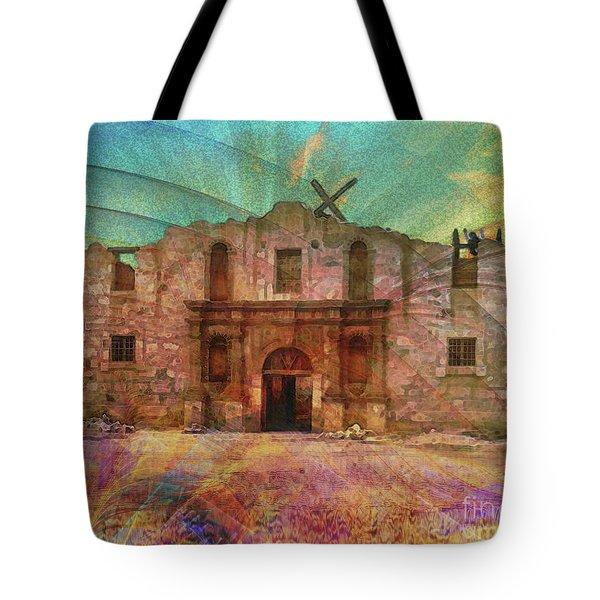 John Wayne's Alamo Tote Bag by John Robert Beck