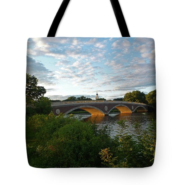 John Weeks Bridge In Harvard Square Cambridge Tote Bag