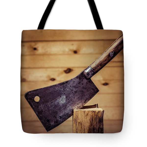 Johne Smith And Sons Meat Cleaver Tote Bag by Chris Bordeleau