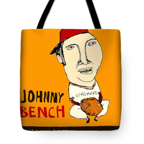 Johnny Bench Cincinnati Reds Tote Bag by Jay Perkins