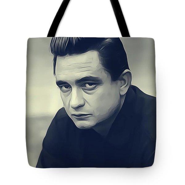 Johnny Cash, Music Legend Tote Bag
