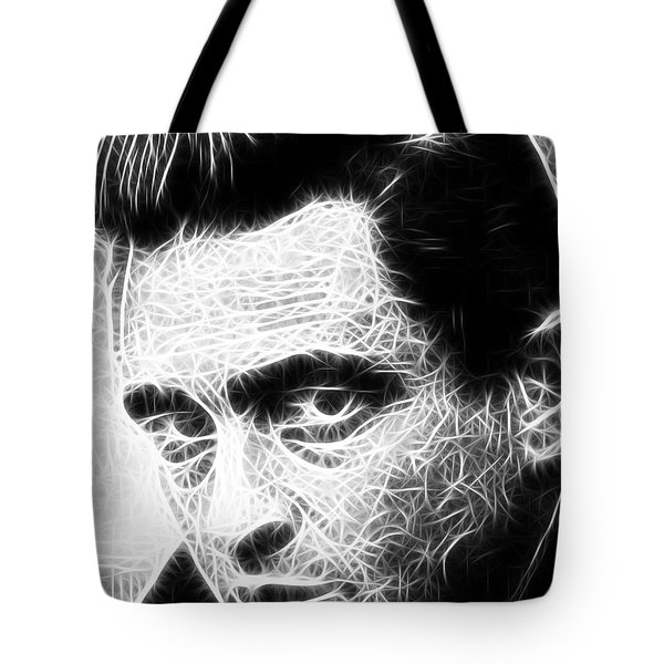 Johnny Cash Tote Bag by Paul Van Scott