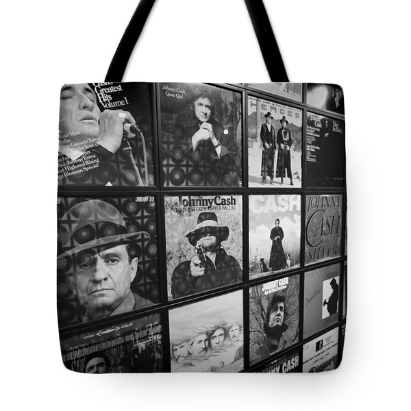 Johnny Cash Records At Johnny Cash Museum Tote Bag