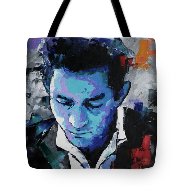 Johnny Cash Tote Bag by Richard Day