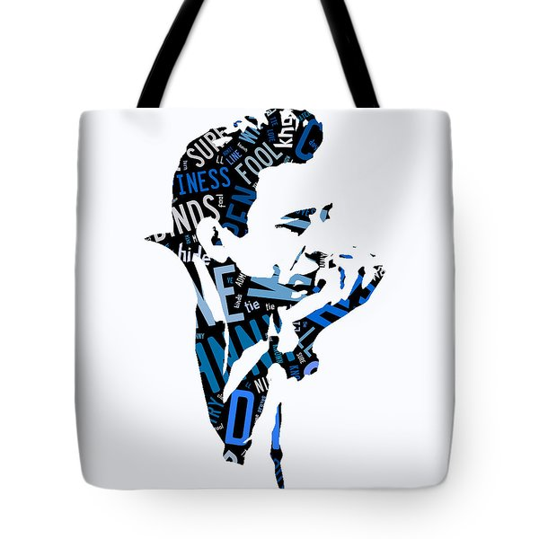 Johnny Cash Song Lyric I Walk The Line Tote Bag by Marvin Blaine